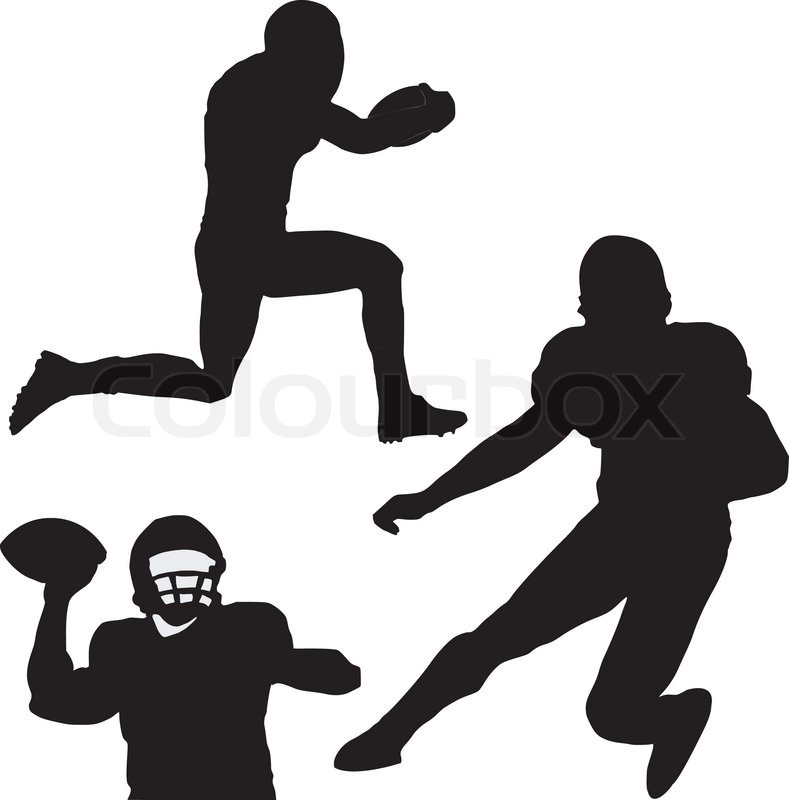 789x800 Silhouette Of Football Players Stock Vector Colourbox