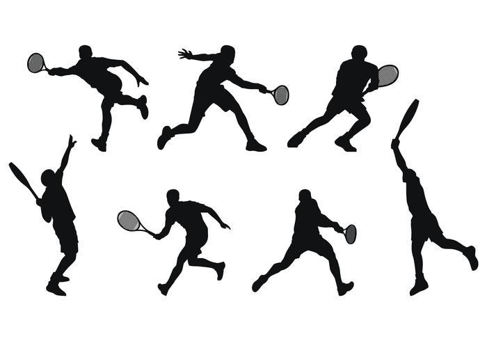 700x490 Tennis Player Silhouette