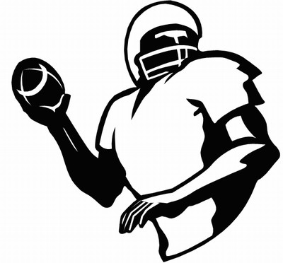400x372 Best Football Player Clipart Black And White
