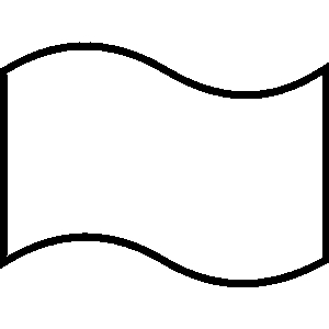 Flag Line Art