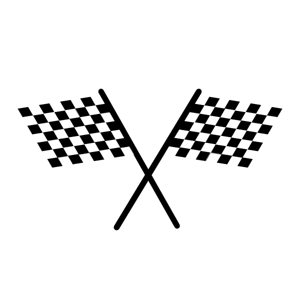 600x600 Chequered Flag Clip Art