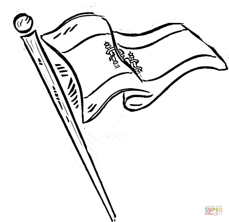 750x727 Flag Of Spain Coloring Page Free Printable Coloring Pages