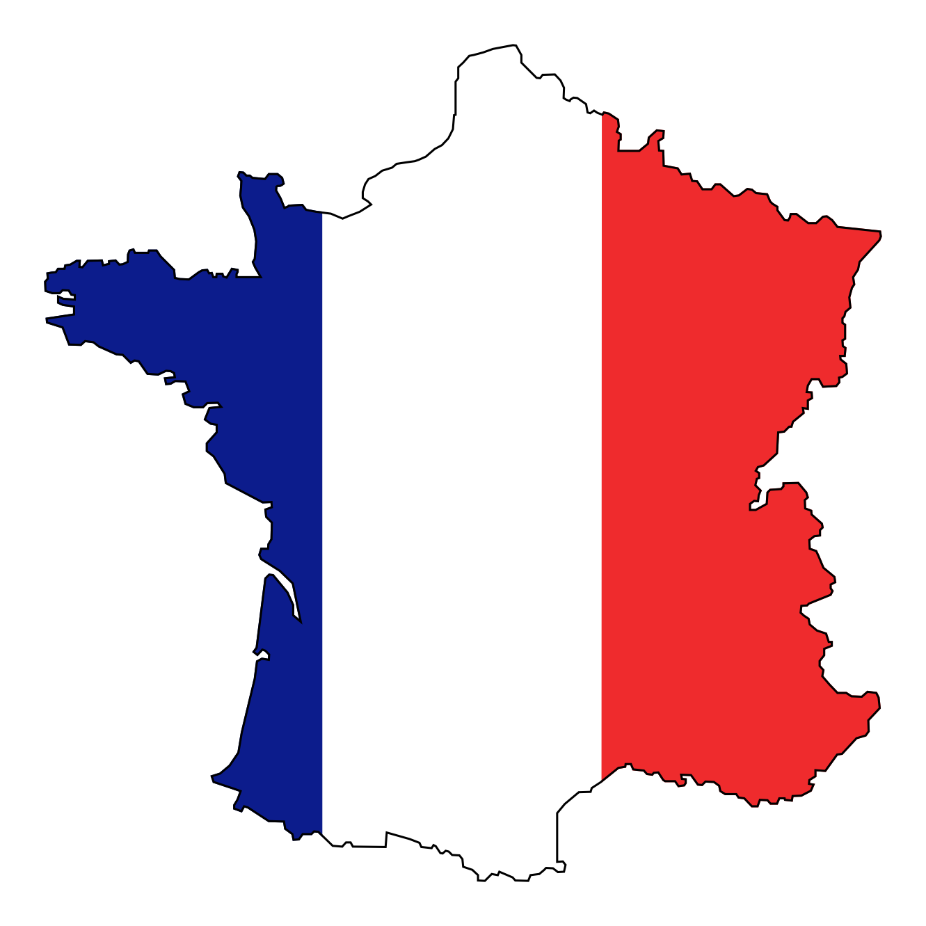 1331x1331 French Flag Clip Art