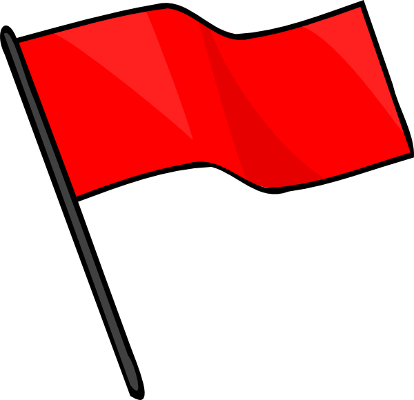 600x580 Red Flag Clip Art