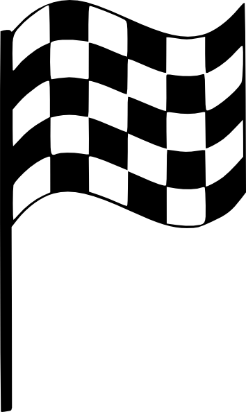 354x594 Upright Finish Line Flag Clip Art