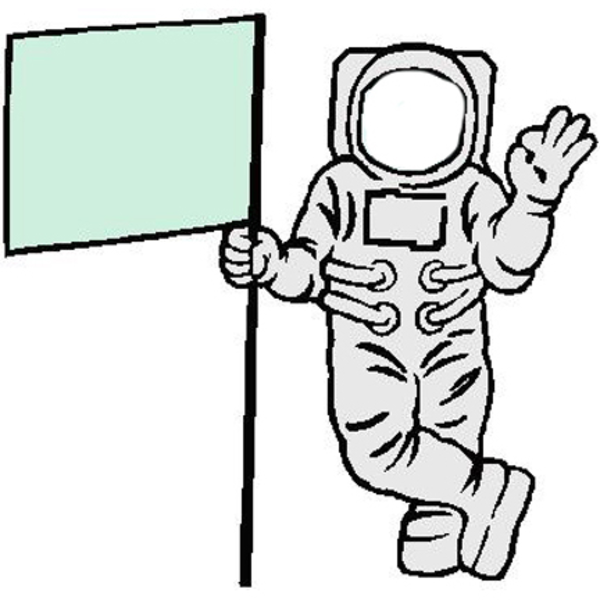600x600 Astronaut Clipart Flag