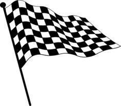 236x207 Black And White Checkered Flag Clip Art