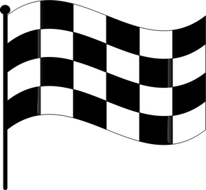 300x277 Checkered Flag Clipart Image