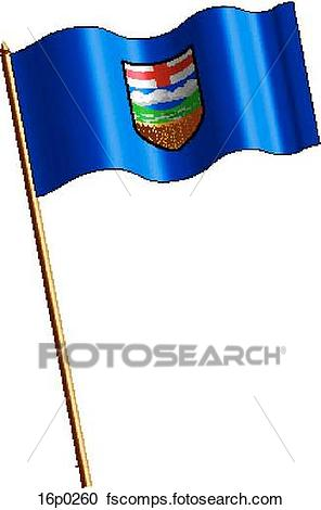 296x470 Clipart Of Alberta Flag, Waving 16p0260