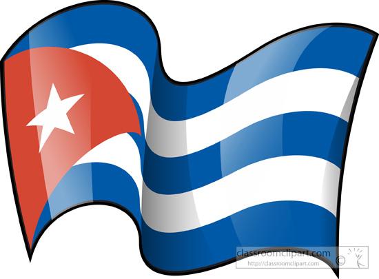 550x405 Cuban Flag Clipart