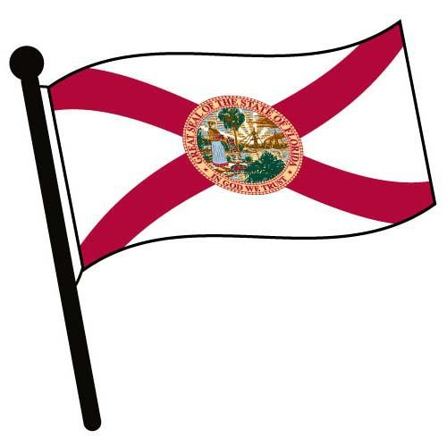 500x500 Florida Waving Flag Clip Art