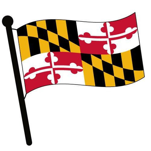 500x500 Maryland Waving Flag Clip Art