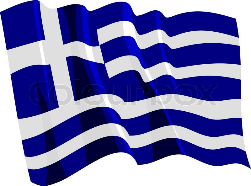 800x593 Political Waving Flag Of Greece Stock Vector Colourbox