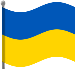 263x242 Ukraine Flag Waving Clip Art Download