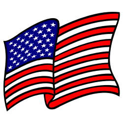 250x250 Waving American Flag No Gradients Clip Art Free Borders And Clip Art