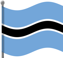 263x242 Botswana Flag Waving Clip Art Download