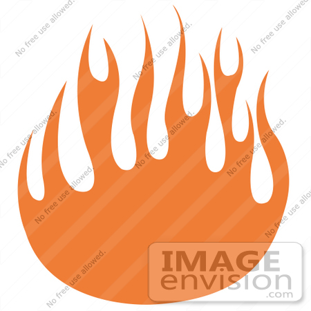 450x450 Royalty Free Cartoon Clip Art Of Orange Flames Forming A Partial