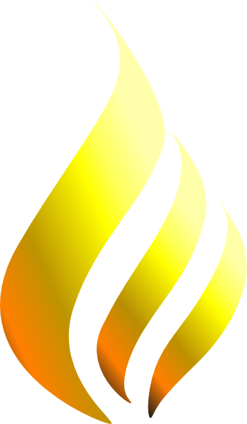 348x595 Flames Yellow Flame Clip Art