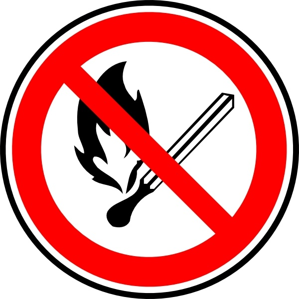 600x600 No Fire Or Flames Allowed Clip Art Free Vector In Open Office
