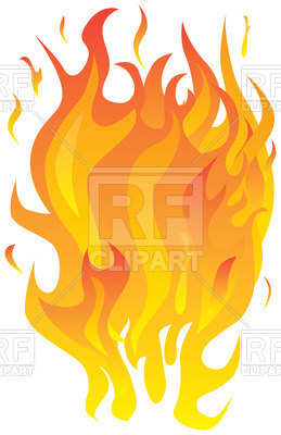 259x400 Fire Flames Royalty Free Vector Clip Art Image