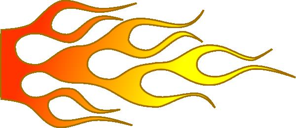 600x260 Racing Flame Clip Art