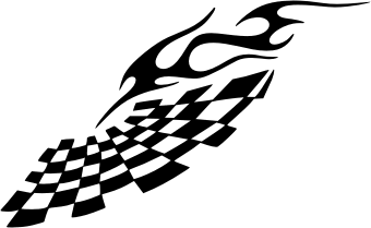 340x209 Racing Flame. Free Vector Clipart Sample For Vehicle Graphics