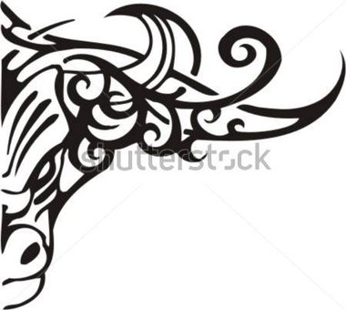 380x340 Tribal Flame Clipart