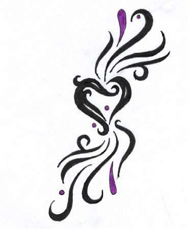 Flame Heart Tattoos