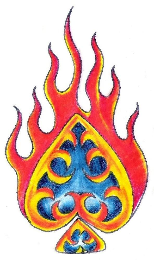 591x999 Fire Tattoo Designflame And Heart Tattoo Designfire Tattoo Design