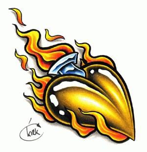 300x310 Heart Tattoo Design