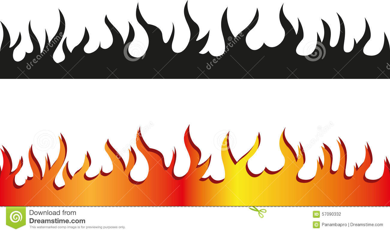 Flame Line Art Clipart