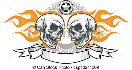 450x240 Ssckull Clipart Flame