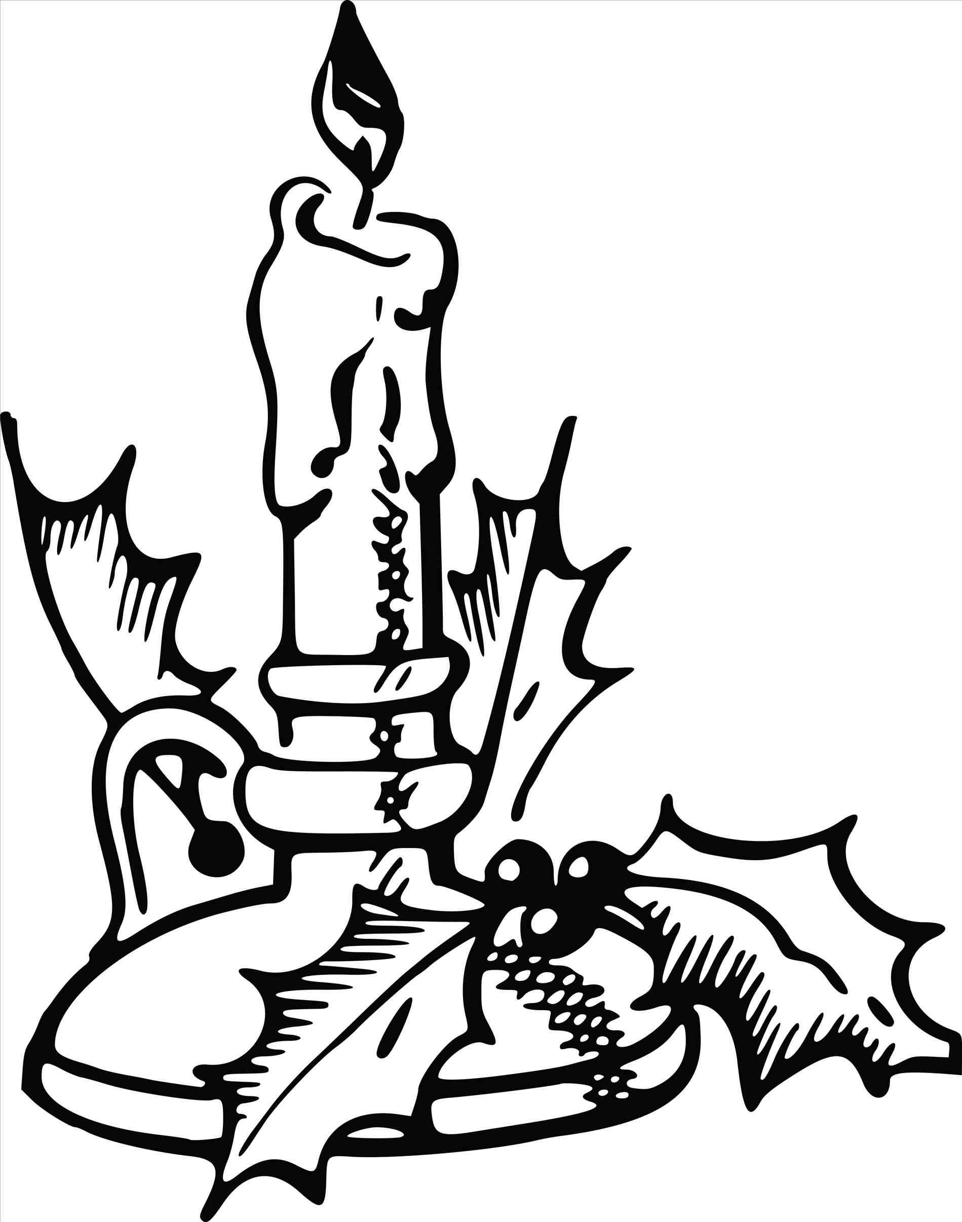 1899x2412 Christmas Candle Clip Art Black And White Cheminee.website