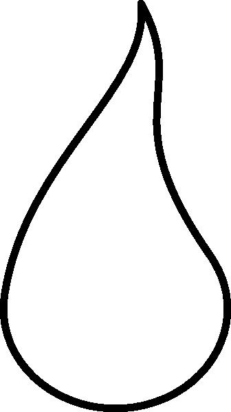 336x599 White Flame Outline Clip Art