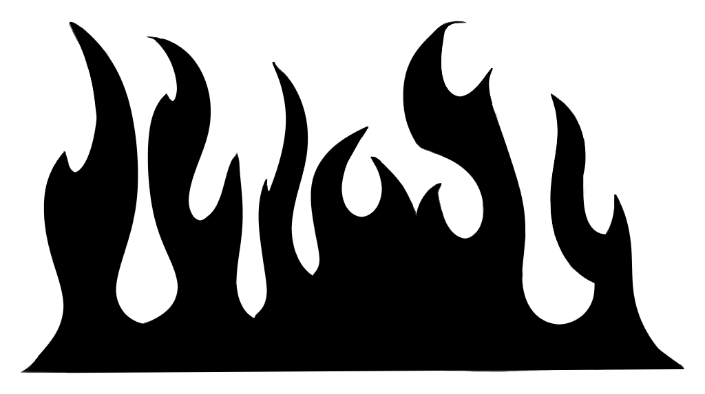 Flame Patterns Stencils Clipart