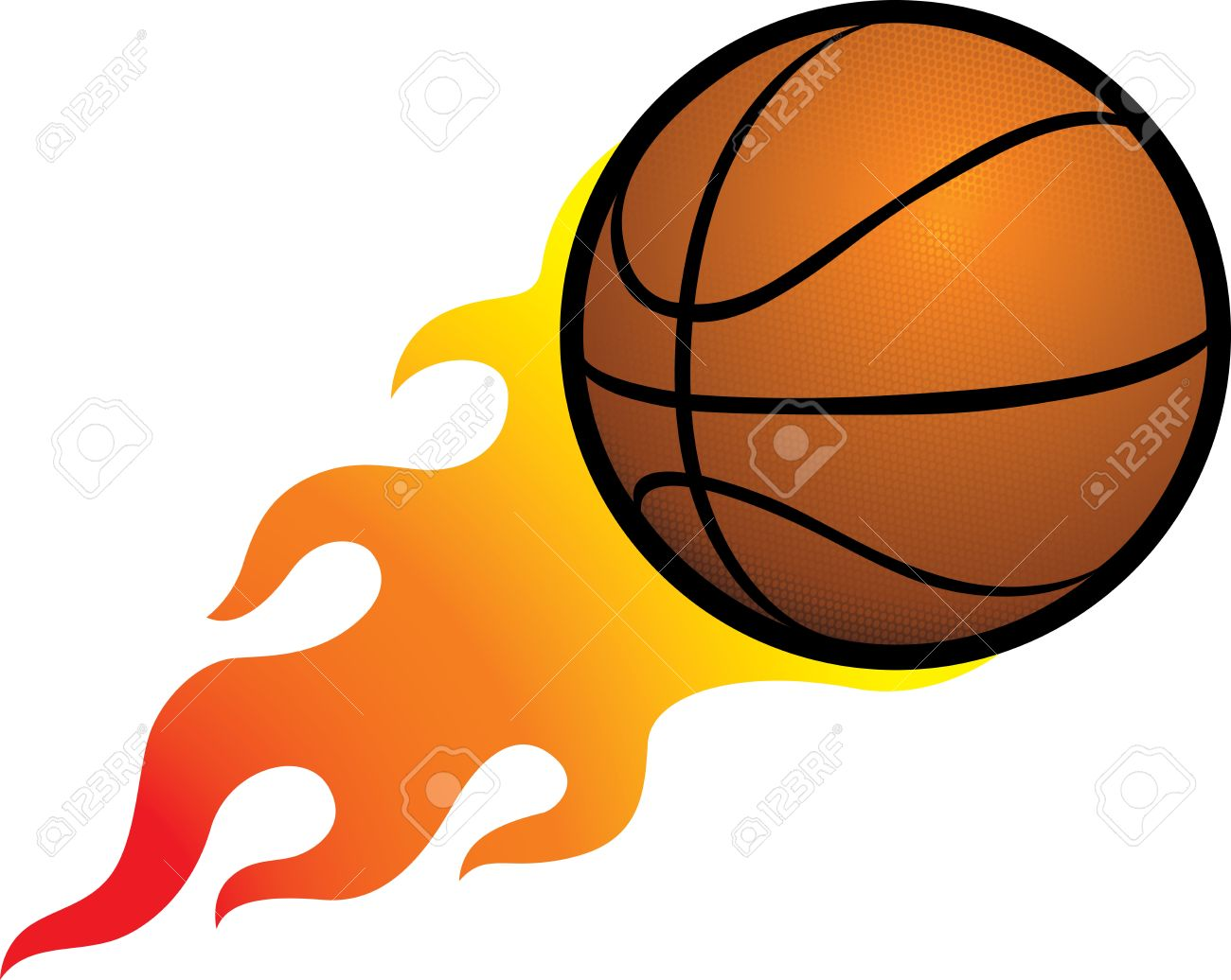 Flameing Basketball