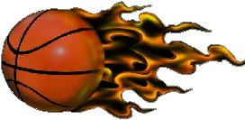 272x133 Flaming Basketball Decal Sticker 02