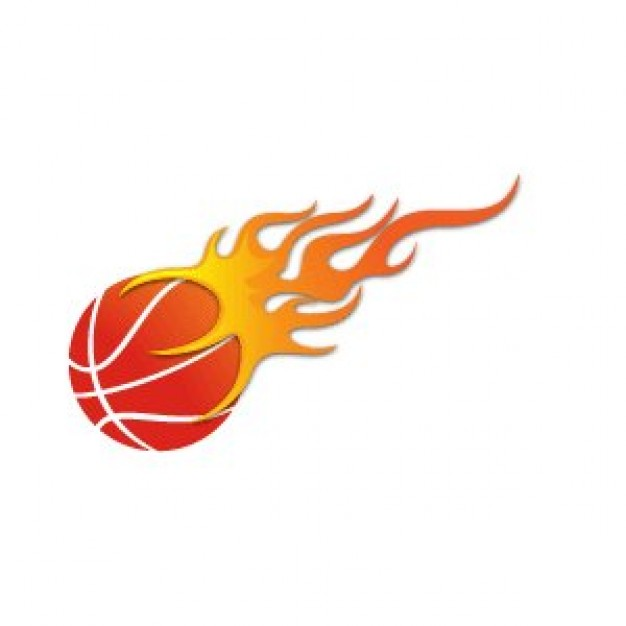 626x626 Flaming Basketball Clipart
