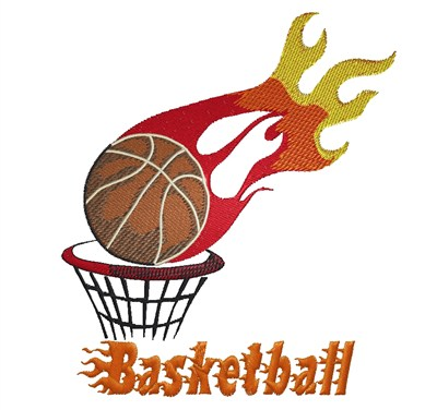 400x376 Flaming Basketball Embroidery Design Annthegran