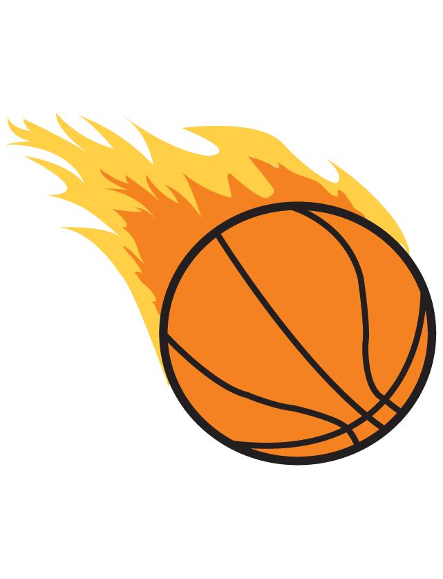 641x837 Flaming Basketball Waterless Tattoo