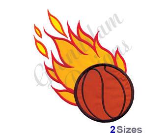 340x270 Flaming Basketball Etsy