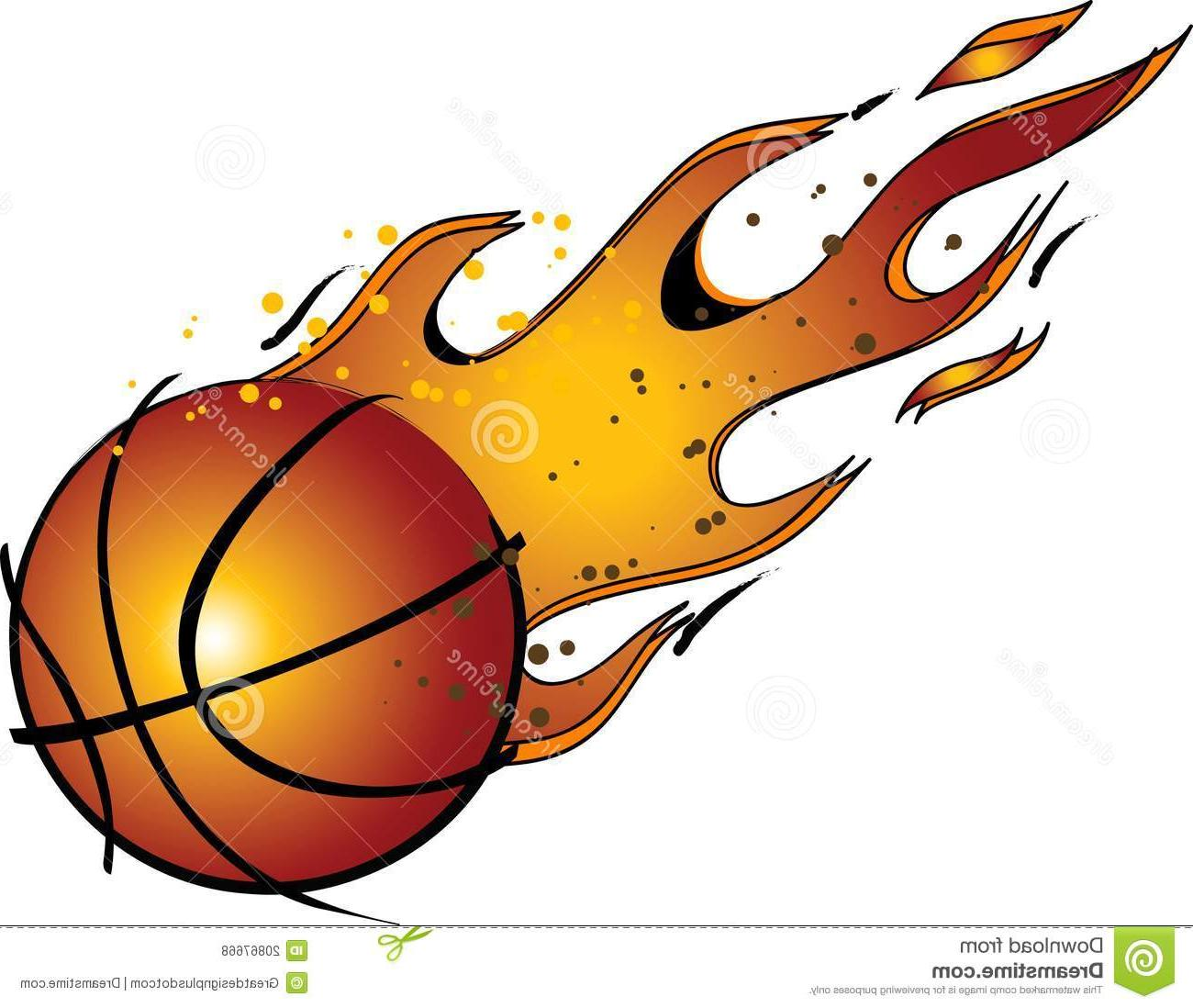 1300x1098 Unique Flaming Basketball Vector Clip Art File Free