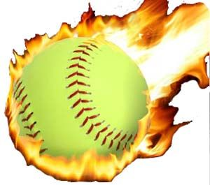 300x265 Softball With Flames Clip Art Fastpitch Softball Free Article