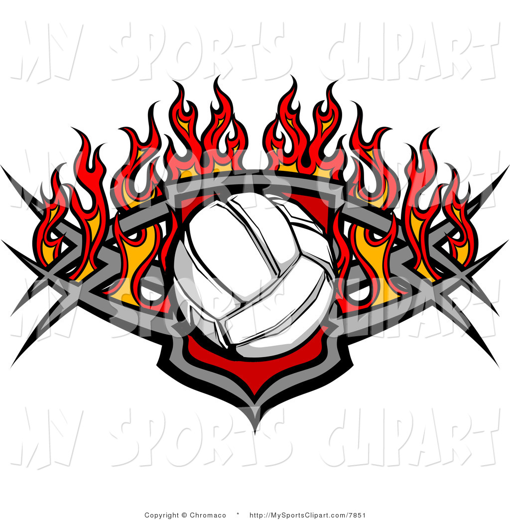 1024x1044 Sports Clip Art Of A Volleyball With Flames By Chromaco
