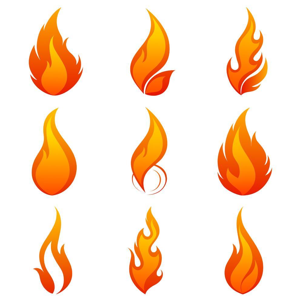 1000x1000 Unique Flame Logo Vector Clip Art File Free Free Vector Art