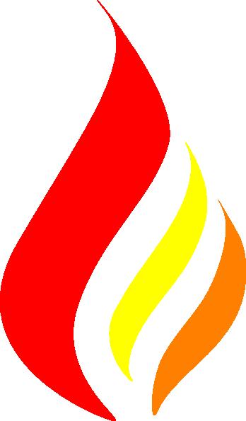 348x595 Candle Flame Logo Clip Art