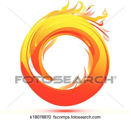 450x411 Clipart Of Flames And Fire Abstract Logo K18078870