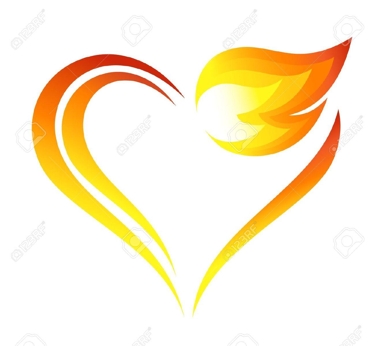 1300x1198 Flaming Heart Clipart