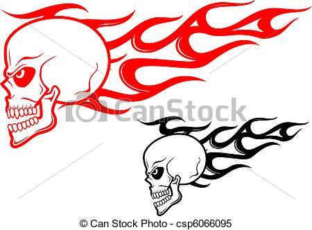 450x332 Flaming Skull Clip Art