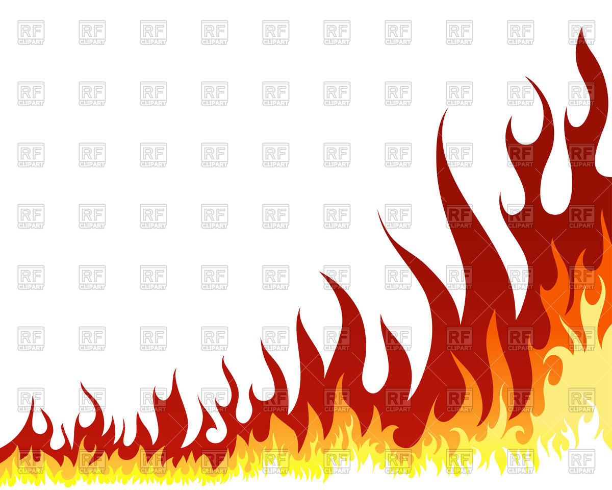 Flames White Background